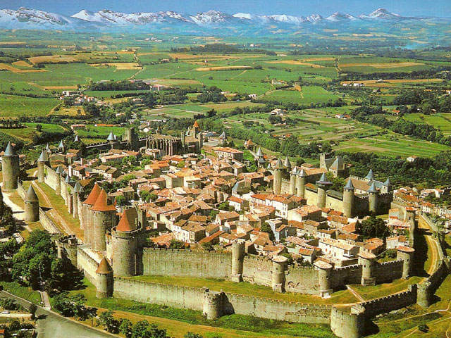 Carcassonne, France is an ancient fortress town founded by the Visigoths in the fifth century and is also a World Heritage Site declared by UNESCO in 1997. Tourists can reach Carcassonne with a high-speed train from Paris.